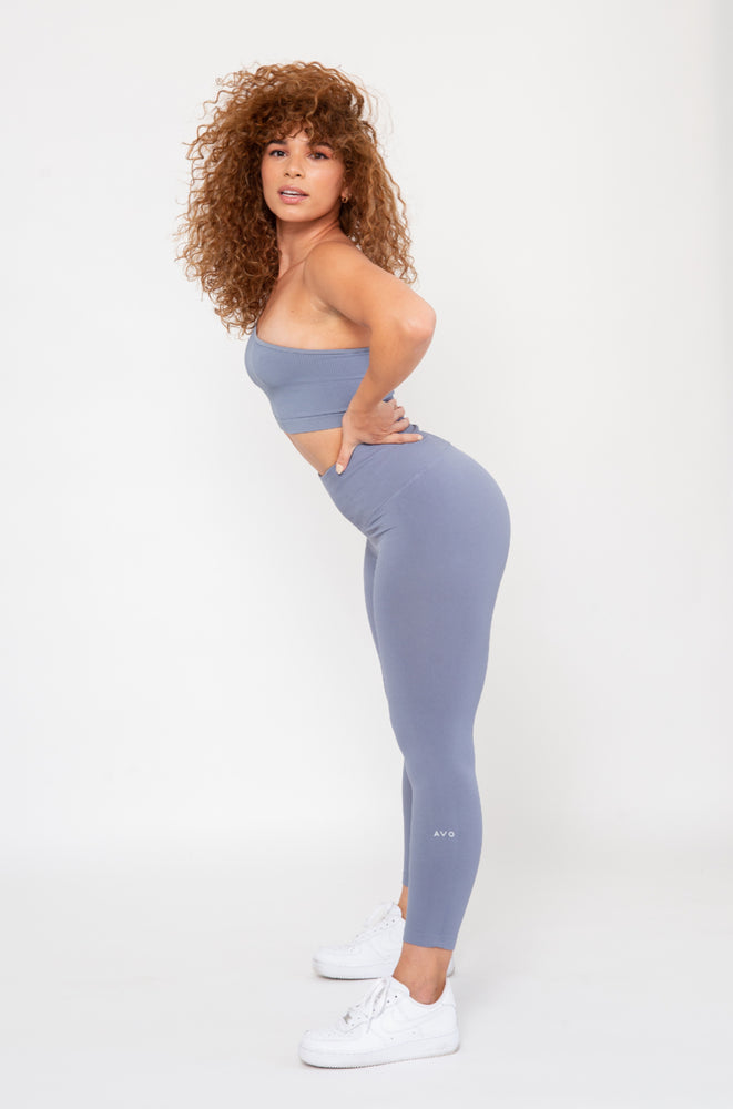 Manifest Seamless Leggings -Blue Stone