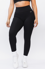 Buenas Vibras Leggings with Pockets - Black