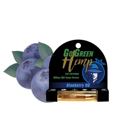 GoGreen Hemp CBD 200mg Pre-Filled Blueberry OG Cartridge