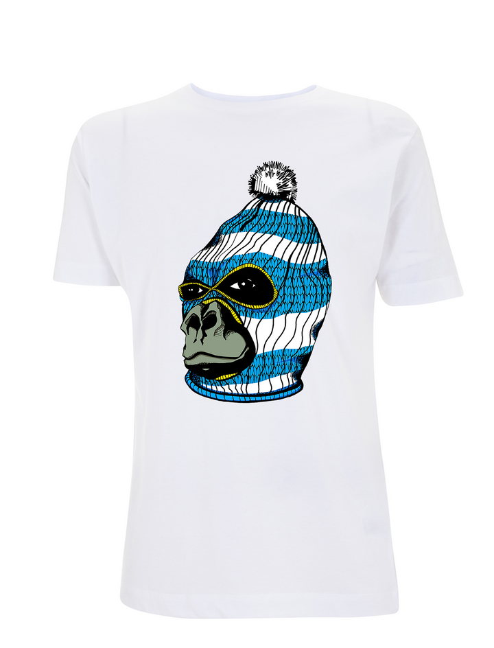 Gorilla Graphic Tee - White - Urban Reaper Clothing