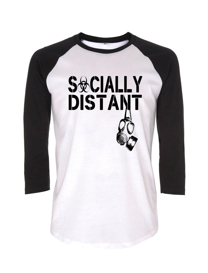 Socially Distant Baseball Tee