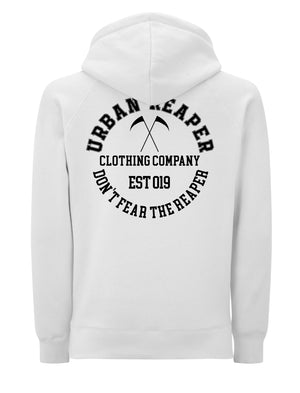 College Logo White Hoodie