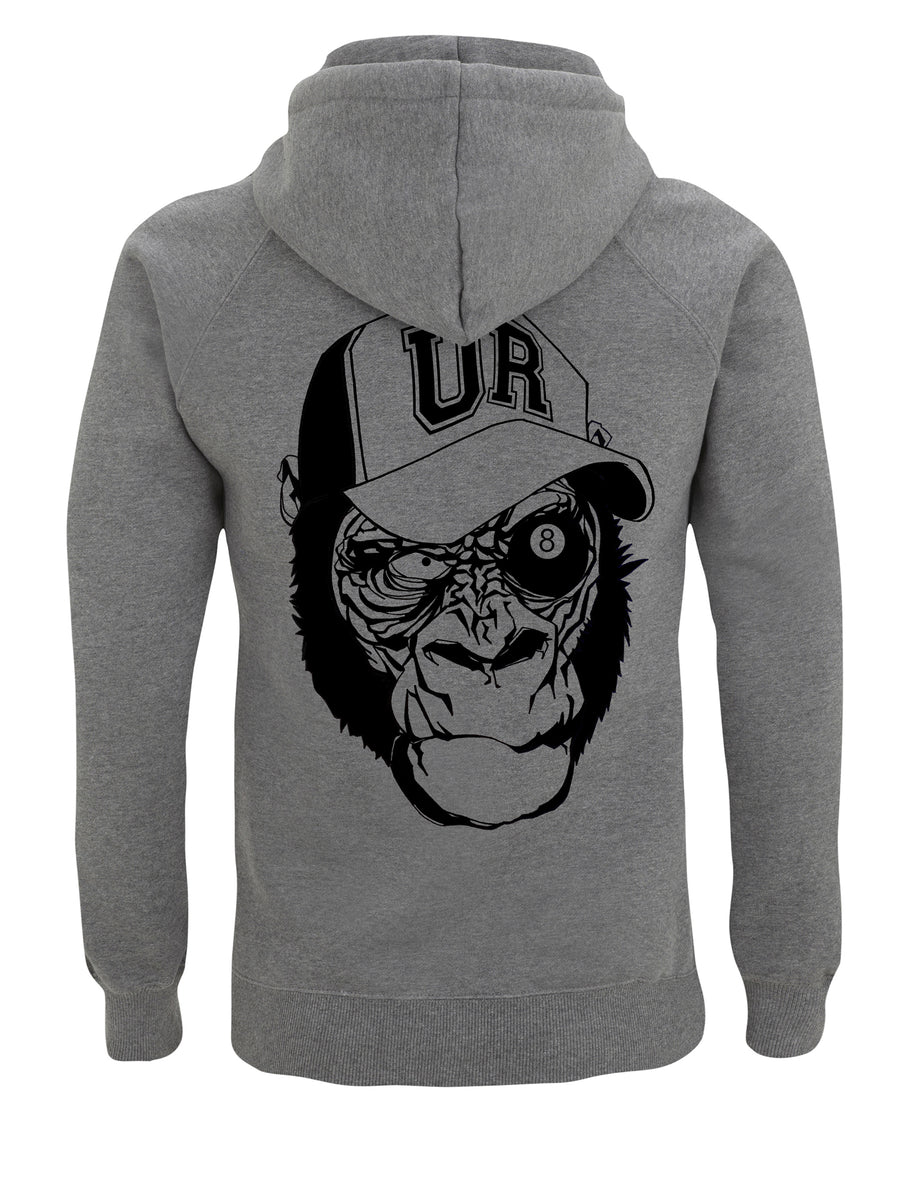 8 Ball Monkey Skull Hoodie - Urban Reaper Clothing