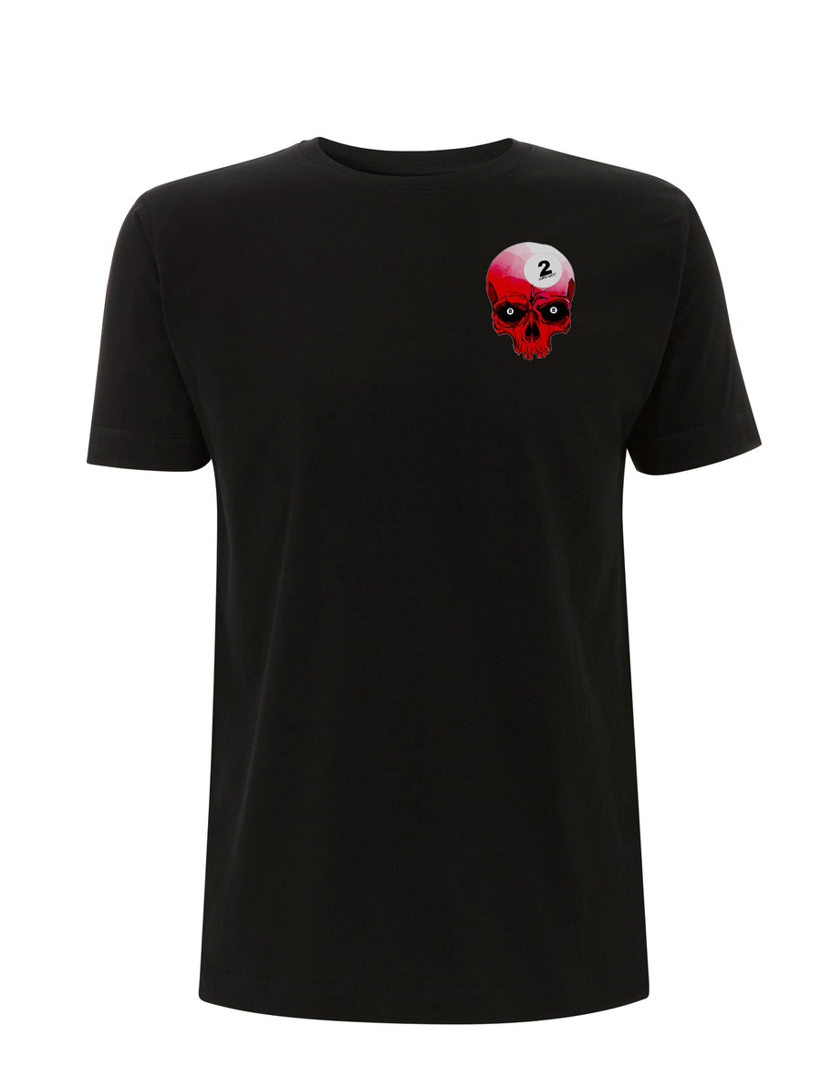 Pool All Skull Graphic Black Tee - Urban Reaper Clothing