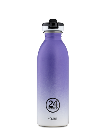 Bottiglia 24 Bottles - Urban Bottle con Tappo Sport - Purple Rhythm - 500ml