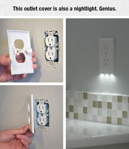 Lowest Price Outlet Wall Plate With Led Night Lights No Batteries