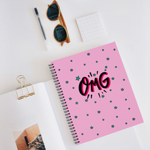 "Load image into Gallery viewer, Notebook with ""OMG"" sticker"