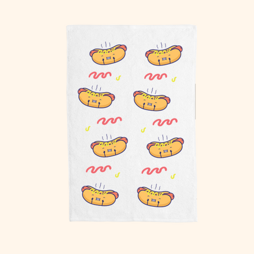 Hand Towel (Cute Hot Dog)