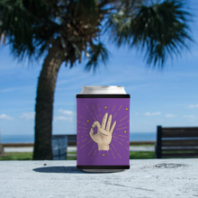 "Load image into Gallery viewer, Koozie with ""Okay"" sticker"