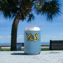 "Load image into Gallery viewer, Koozie with ""YES"" sticker"