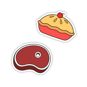 """Apple Pie & Steak"" Stickers"