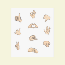 Load image into Gallery viewer, Kiss Cut Stickers with Hand Gestures