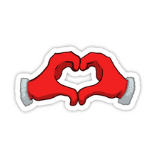 "Load image into Gallery viewer, ""Heartshaped"" Christmas Hand Sticker"