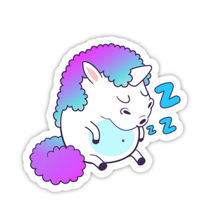"""Sleep"" Unicorn Sticker"