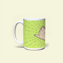 "Load image into Gallery viewer, Mug with ""Hang_Loose"" sticker"