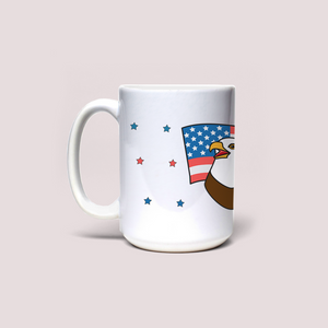 "Mug with ""Eagle"" sticker"