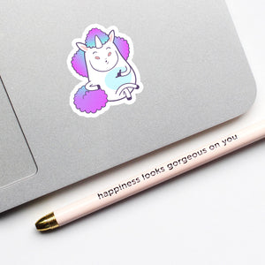 """Hangloose"" Unicorn Sticker"