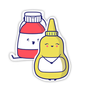 Ketchup & Mustard Stickers