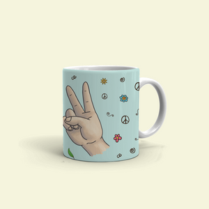 "Mug with ""Cool"" sticker"