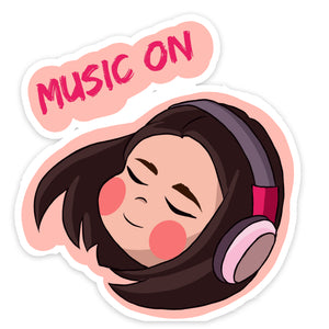 Music On Sticker