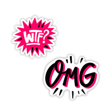 "Load image into Gallery viewer, ""OMG & WTF"" Stickers"
