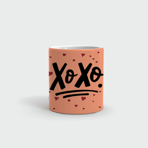 "Mug with ""XO-XO"" sticker"
