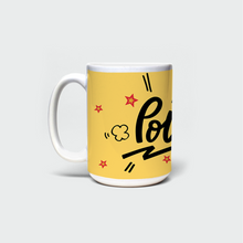 "Load image into Gallery viewer, Mug with ""POW"" sticker"