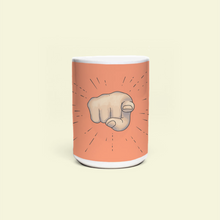 "Load image into Gallery viewer, Mug with ""Point"" sticker"