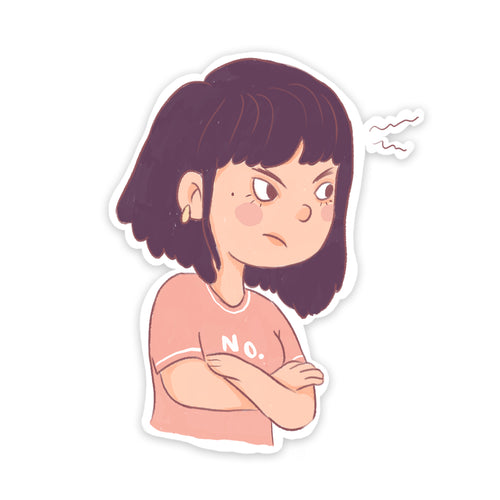 Angry Girl Sticker
