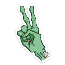 "Load image into Gallery viewer, ""Finger Two"" Zombie Hand Sticker"