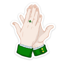 "Load image into Gallery viewer, ""High-Five"" Saint Patrick Hand Sticker"