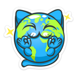 """Peace"" Cat Sticker"