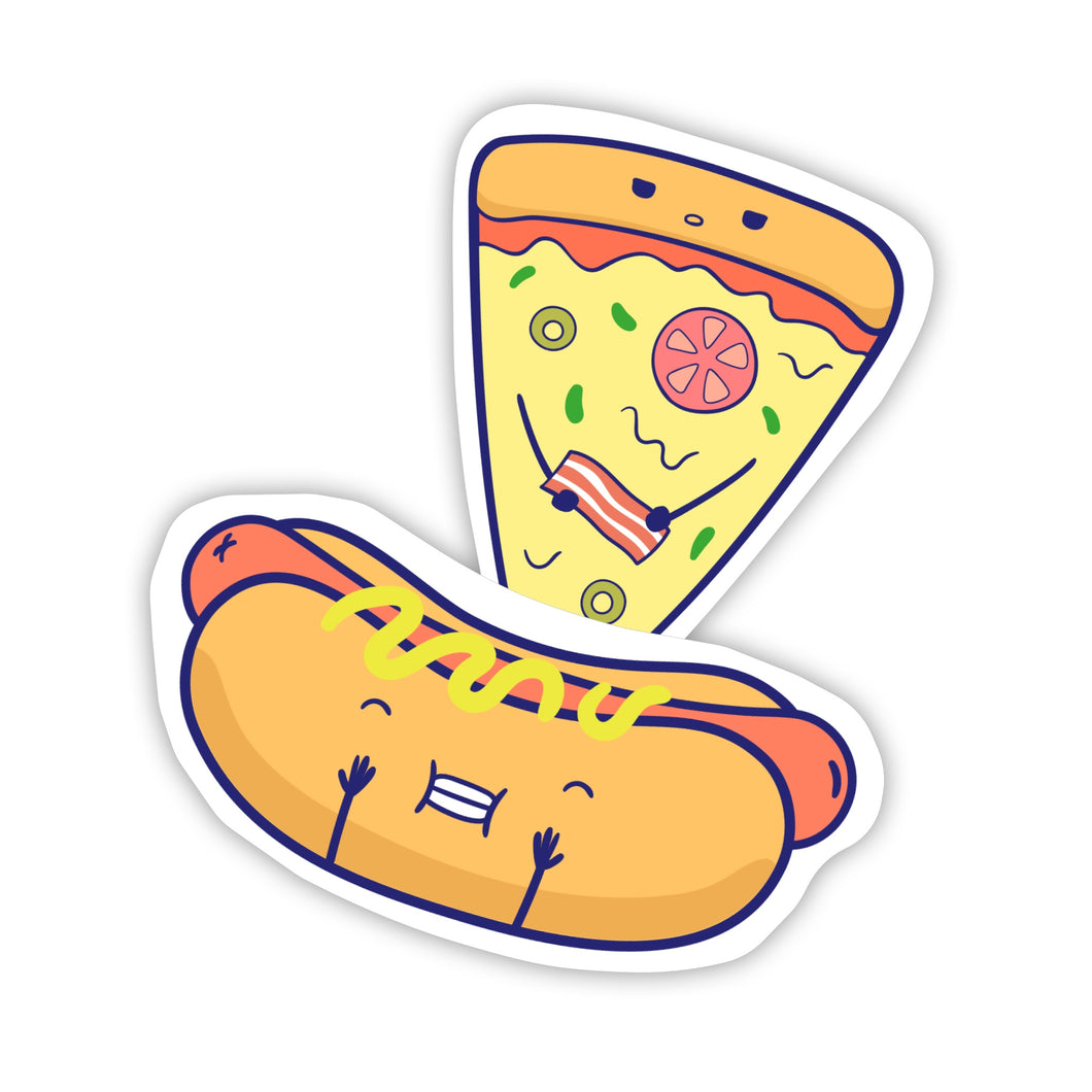 Hot-dog & Pizza Stickers