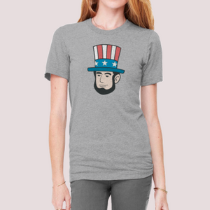 "T-Shirt with ""President"" sticker"