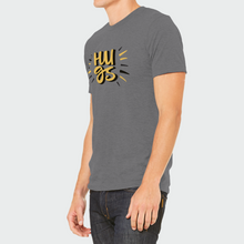 "Load image into Gallery viewer, T-Shirt Unisex with ""HUGS"" sticker"