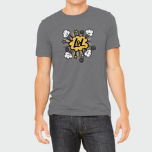 "Load image into Gallery viewer, T-Shirt Unisex with ""LOL"" sticker"