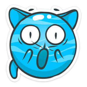 """Surprised"" Cat Sticker"
