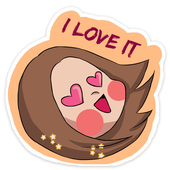 I Love It Sticker