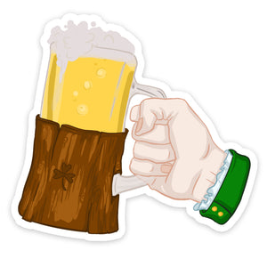 """Beer"" Saint Patrick Hand Sticker"