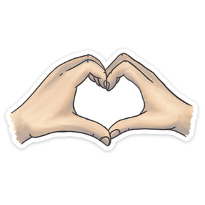 """Heartshaped"" Hand Sticker"