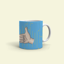 "Load image into Gallery viewer, Mug with ""Thumb_Up"" sticker"