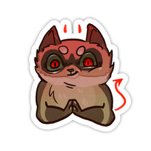 "Load image into Gallery viewer, ""Evil"" Animal Sticker"