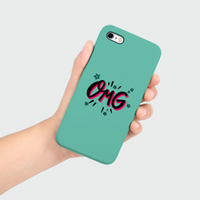 "Load image into Gallery viewer, Phone Case with ""OMG"" sticker"