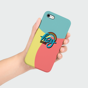 "Phone Case with ""HEY"" sticker"