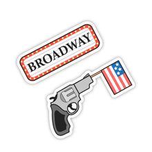 "Load image into Gallery viewer, ""Broadway & Gun"" Stickers"