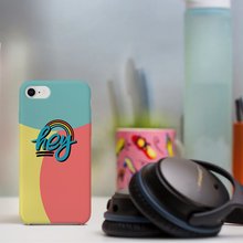 "Load image into Gallery viewer, Phone Case with ""HEY"" sticker"