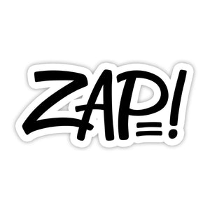 """ZAP"" Sticker"
