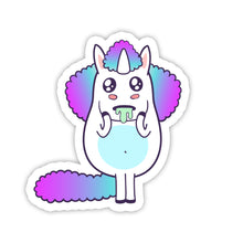 "Load image into Gallery viewer, ""I Want"" Unicorn Sticker"