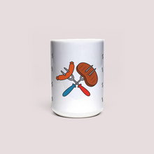 "Load image into Gallery viewer, Mug with ""BBQ"" sticker"