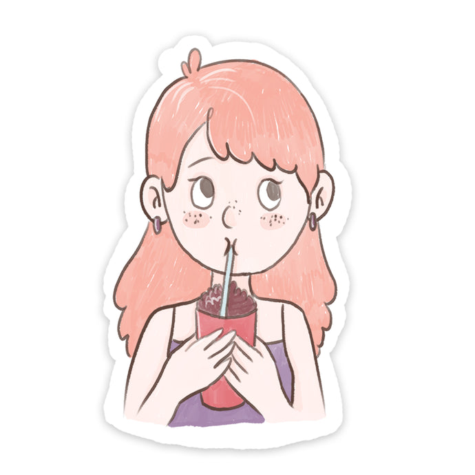 Milk Shake Girl Sticker